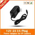 Universal plug eua 100 v-240 v 12 v adaptador de alimentação 2a para cctv ip câmera de segurança levou tira 5.5*2.1mm freeshipping especial