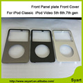 10pcs/lot Free DHL Shipping Front Cover Front Panel plate for iPod Classic 6th 7th gen New Black White Dark Gray gold Color