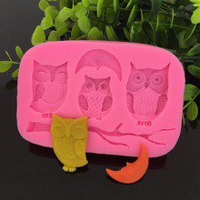 Three Owls Silicone Mold 3D Liquid Concrete Molds Designer DIY 3D Wall Panel Molds for Plaster picaso 3d designer