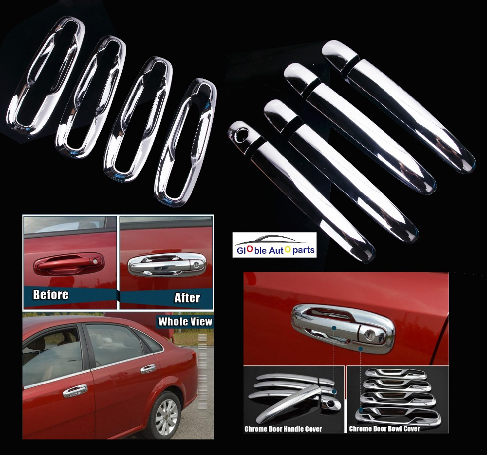 Car Door Handles Covers For Chevrolet Lacetti Optra Daewoo Nubira Suzuki Forenza Holden Stickers Chrome Exterior DQ-047