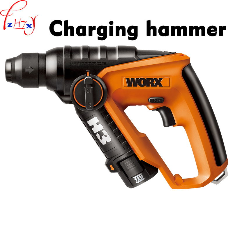 Multi-funzione martello elettrico WX382 carica di Luce martello elettrico trapano a percussione strumenti con avanti e indietro pulsante 12 V 1 PZ