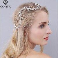CC Jewelry Wedding Hairband Flower Crown Bridal Hair Accessories For Women Party Romantic Fashion Bride Handmade Hairwear 0939