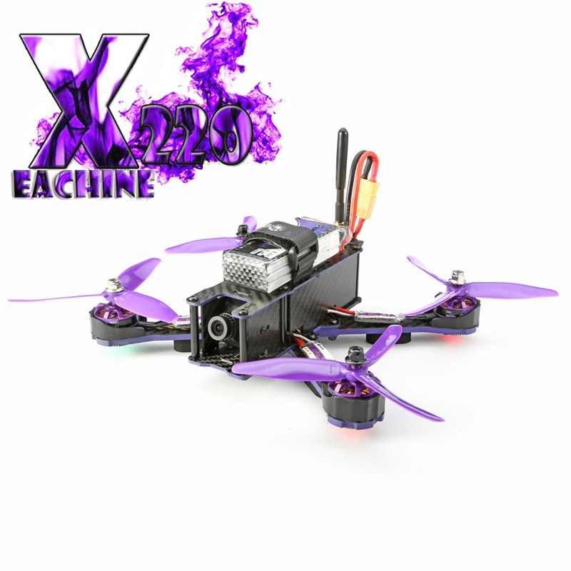 Eachine Wizard X220 FPV RC Racing Drone Blheli_S F3 6DOF 2205 2300KV Motors 5.8G 48CH 200MW VTX Racer Quadcopter Helicopter ARF 2016 new arrival 4 pieces eachine spare part motor mount motor protector for wizard x220 fpv racer 22 series motors