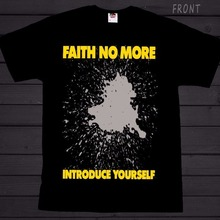 aad41095fe phiking Design Men Crew Neck Faith No More Introduce Yourself T-Shirt  Sizes:S 3XL