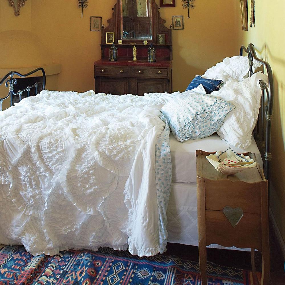 Western Palace Stye Edredón de lujo con juegos de cama de algodón - Textiles para el hogar
