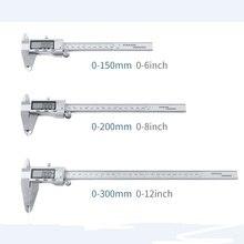 12 дюймов ЖК-дисплей цифрового металлического подшипника штангенциркуль 0-300 мм Нержавеющая сталь линейка 0,01 мм точность электронный внутренний микрометр калибровочного инструмента
