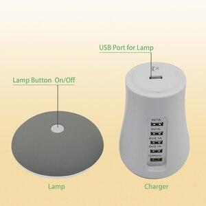 Image 4 - 1 Máy Tính Đa Dock Sạc 5 Cổng USB QC3.0 Đế Sạc Với Ánh Sáng Hình Nấm Dock Sạc Nhanh Hub EU Hoa Kỳ âu Anh