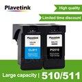 PG 510 PG510 PG-510 XL многоразовый картридж совместимый для Canon iP2700 Pixma MP250 MP270 MP280 480 MX320 330