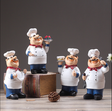 American Style chef Resin Figurine Creative White top hat Cook retro nostalgic Kitchen ornaments home Decor Crafts Gifts
