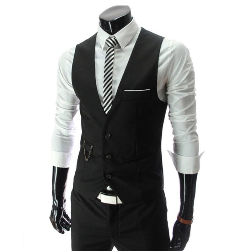 2018 New Men's Western Decoration V-neck Vest Male Vests Men Vests Mens Waistcoat Man Dress Vests For Men Homens Colete