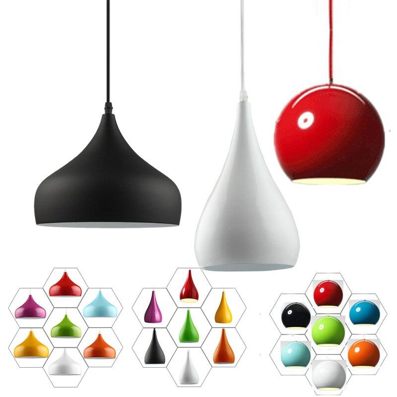 Kitchen Modern Fashion Simple Led Pendant Light For Dining Room Restaurant Lamp Aluminum Hanging Room Lamp Renovation Lampshade