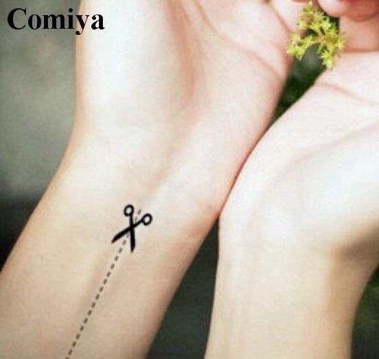 a9222373d Cutting scissors temporary tattoo sex products body art waterproof stickers  fake tattoos wedding tatoo arm tatto sticker women
