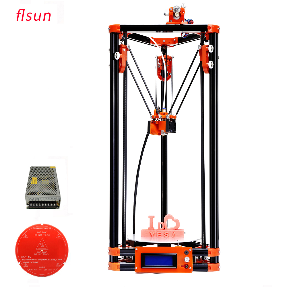 Hot bed Delta 3d Printer Kits Large Printing Size 3d-Printer With LCD Display One Roll filament SD Card