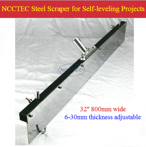 32'' 800mm NCCTEC Flat Leveller Scraper For Self-leveling,epoxy,resin Coating,cement Mortar Floor | 6-30mm Thickness Adjustable