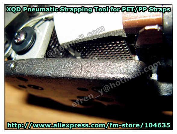 Скидка! Китай Цена по прейскуранту завода-изготовителя XQD-19 пневматический Пластик/PP/PET сварки трением обвязкий инструмент, ПЭТ обвязочная машина для 13-19 мм