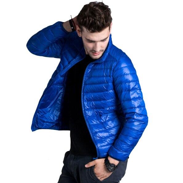 Pato Para Baixo Homens Jaqueta de Luz Ultra Fino Outono jaqueta de Inverno para homens casaco Outerwear parka respirável jaqueta masculina Casacos