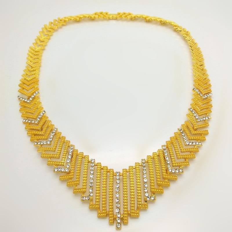 Kingdom Ma Dubai  Bridal Big Jewelry Sets Nigerian Wedding African  Necklace Bracelet Earring Ring Jewelry Set