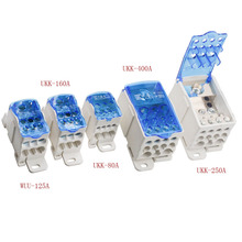 High Quality UKK80A Wiring Squat Terminal Universal Wire Connector Rail Type Junction Box