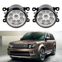 Car Styling For Land Rover Range Rover Sport LS 2010 2011 2012 2013 9 Pieces Led Fog Lights H11 H8 12V 55W Fog Head Lamp