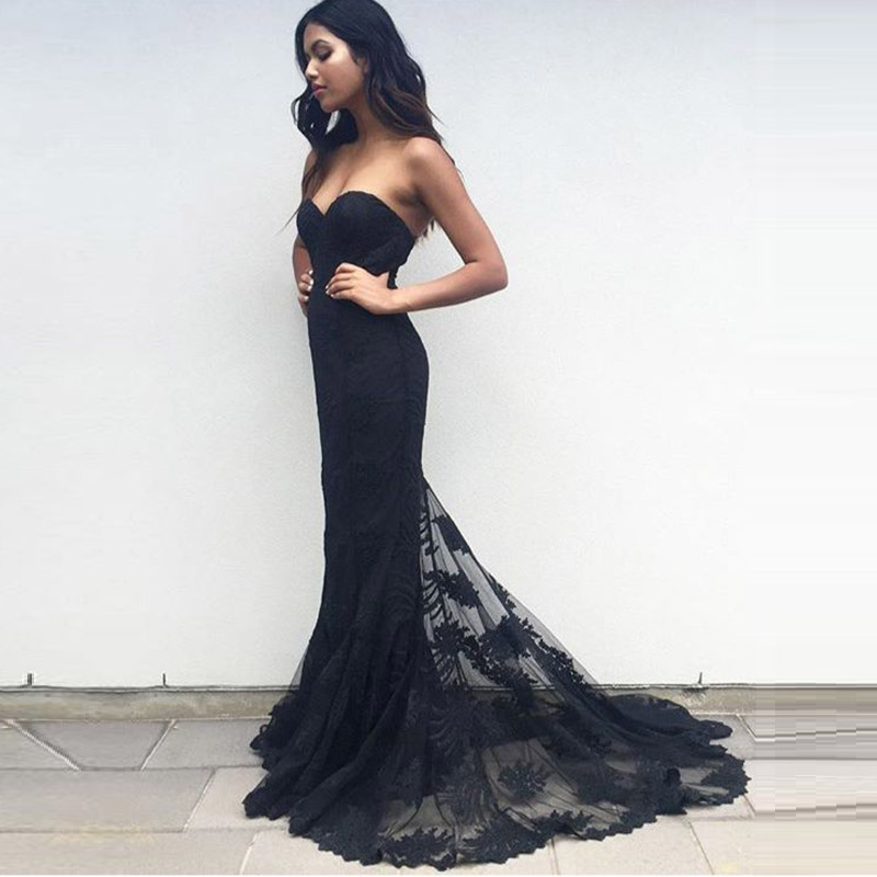 Compare Prices on Black Lace Mermaid Gown- Online Shopping/Buy Low ...