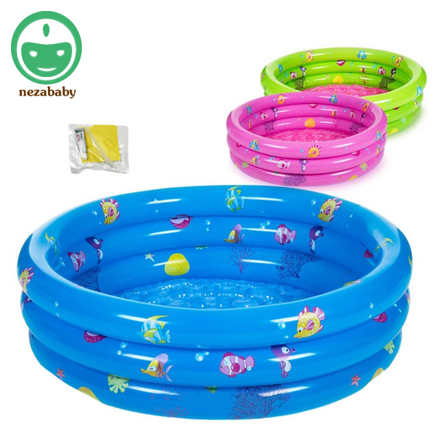 80cm Round Inflatable Pool For Baby Swimming Pool Childrens Inflatable Bathing Pool Toddler Baby Play Pool With Repair Kit YP01