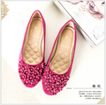 Бесплатная доставка новые женщины плоские туфли, мелкая рот балета большие ярдов для женской обуви Удобные мягкие нижние женские туфли