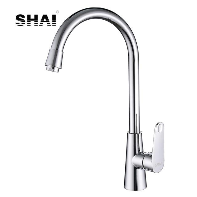 SHAI acabado en cromo grifo de la cocina caliente y Grifo de Agua Fría de rotación de 360 grados Torneira Cozinha mezclador latón ontología ángulo SH3208