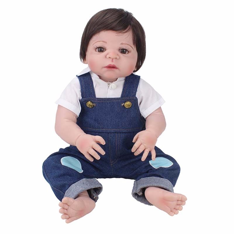 55cm real baby White shirt with Reborn Baby Doll Silicone vinyl Body Simulate boy Baby Reborn Toddler Doll Toy For Children gift55cm real baby White shirt with Reborn Baby Doll Silicone vinyl Body Simulate boy Baby Reborn Toddler Doll Toy For Children gift