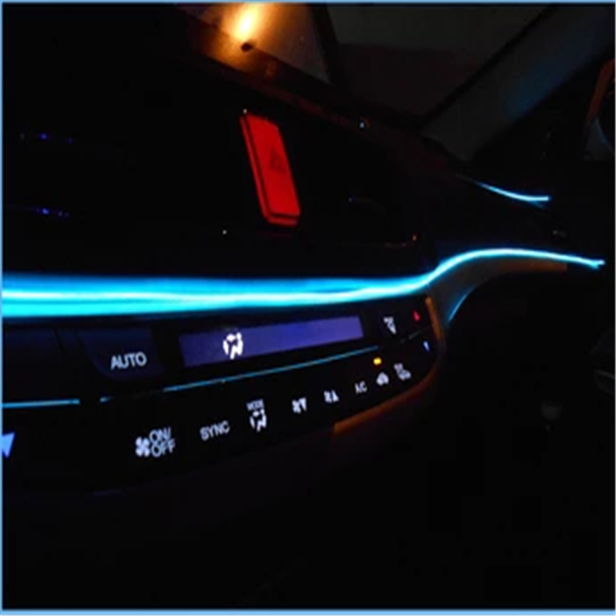 jingxiangfeng new 5m el wire neon glow light strip 12v inverter car neon led rope home vehicle. Black Bedroom Furniture Sets. Home Design Ideas
