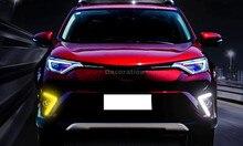 Para Toyota RAV4 2016 2017 2018 Exterior LEVOU Luzes Diurnas Dia Nevoeiro Lâmpada luz 2 pcs