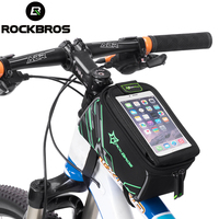 ROCKBROS Waterproof Mountain Road MTB Bike Bicycle Front Top Frame Handlebar Touch Bag For 6 4