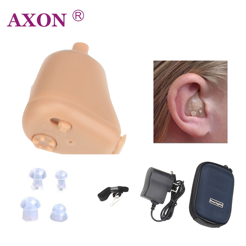 AXON Hearing Aids Ear Aid Sounds Amplifier Mini Rechargeable In Ear Invisible K-88 Audiphone Hear Clear for the Elderly Deaf s 109s rechargeable ear hearing aid mini device sordos ear amplifier hearing aids in the ear for elderly apparecchio acustico