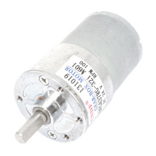 UXCELL(R) High Quality 1Pcs Silver Tone Metal DC 24V 100RPM Rotation Output Speed Motor