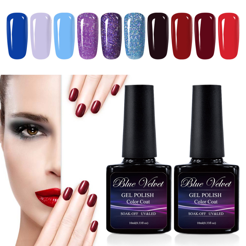 Aliexpress.com : Buy Blue Velvet 10ml Soak Off Gel Nail