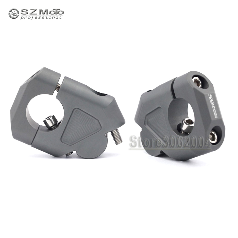 For BMW R1200GS LC R1200 GS Adventure 2014-2018 Motorcycle Accessories Handlebar Riser Handle Bar Clamp Extend Adapter With Logo for bmw r1200gs motorcycle mirrors riser extension brackets adapter fit for bmw r1200gs lc r1200 gs lc adventure 2013 2016
