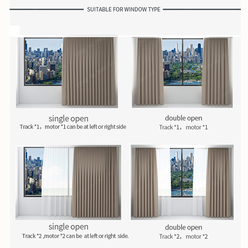 Electric Curtain Track for  Xiaomi aqara /Dooya KT82/DT82 motor Customizable Super Quite  for smart home for 4m or less