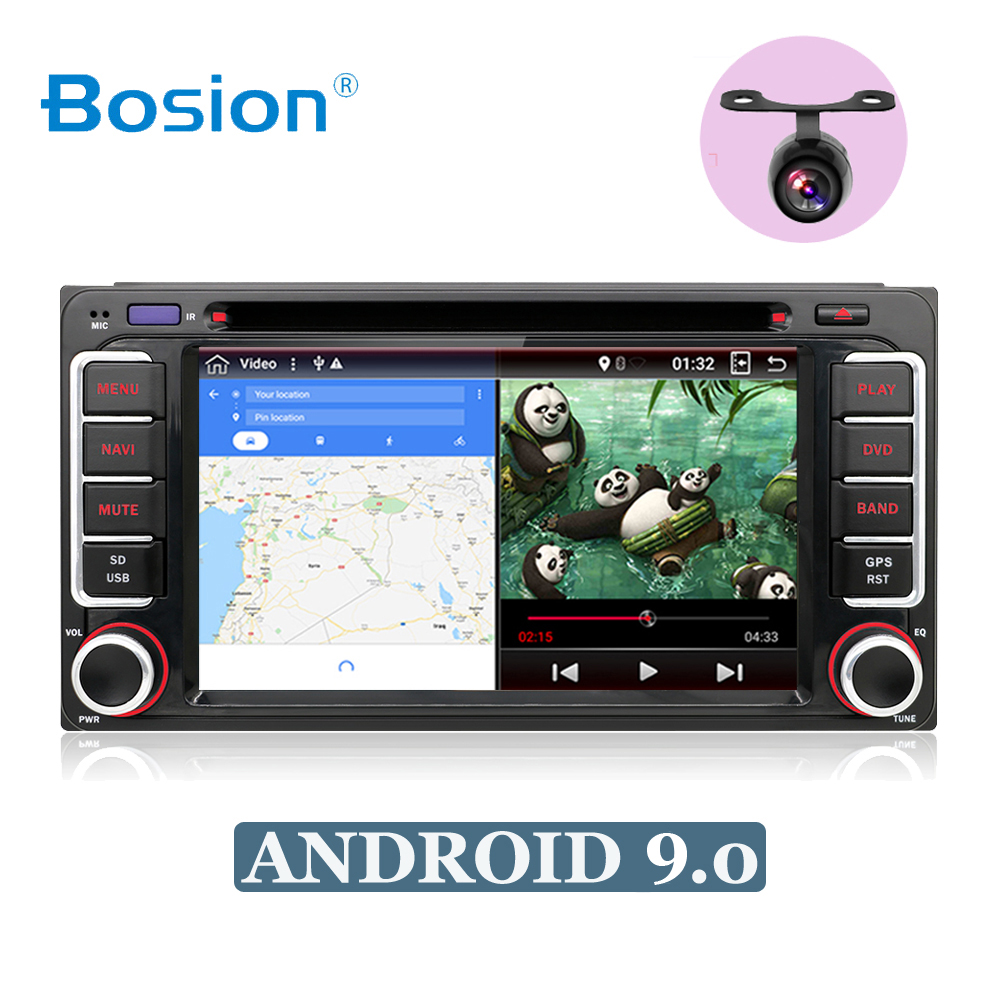 2 din Android 9 0 car multimedia player for Toyota Hilux VIOS Old Camry Prado RAV4