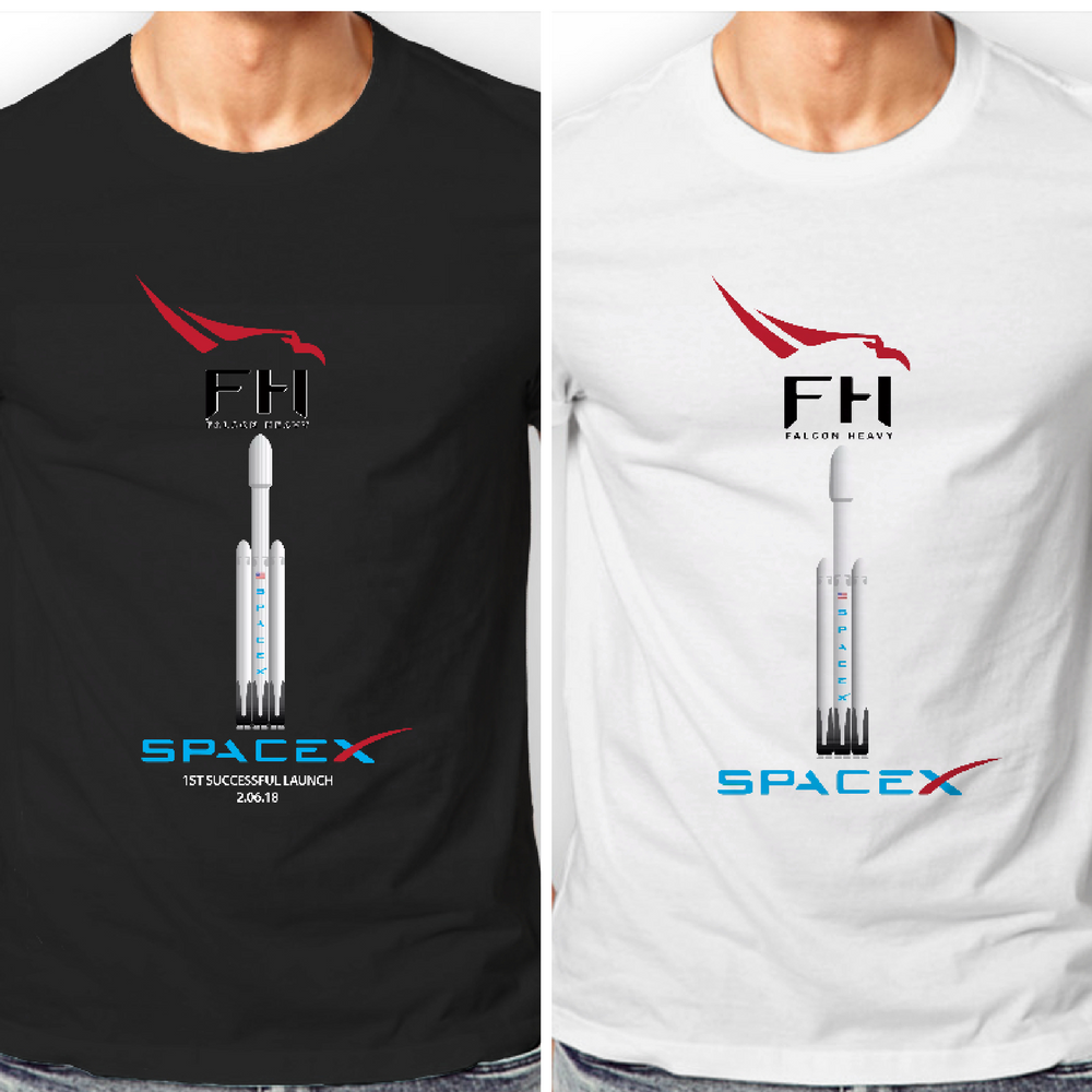 Hot Sale Summer Style Mens Designer Falcon Heavy Rocket Launch Spacex Elon  Musk Cotton T-Shirt Tee Shirt a16f82ee2e24