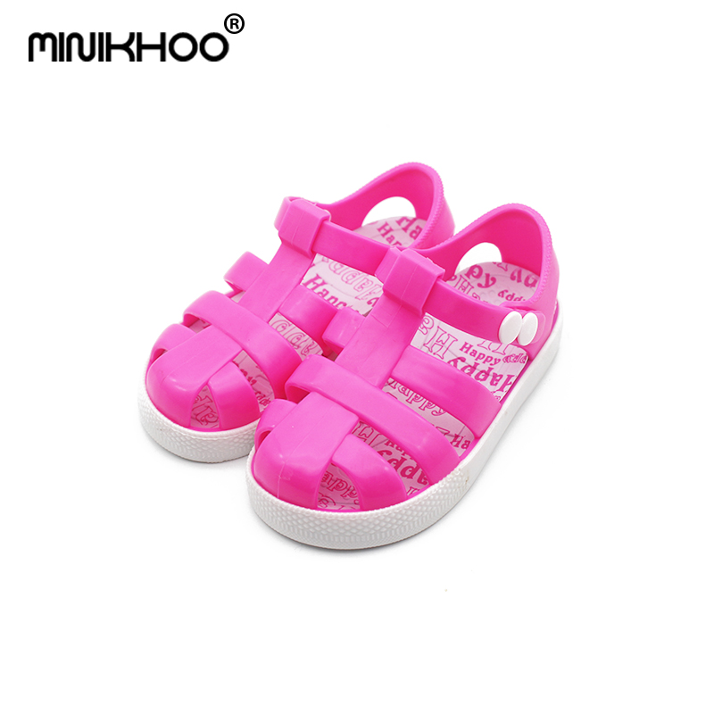 Mini Melissa 2018 Rome Jelly Sandals Girl Sandals Unisex Sandals 2018 Summer Beach Sandals Breathable Melissa Shoes High Quality