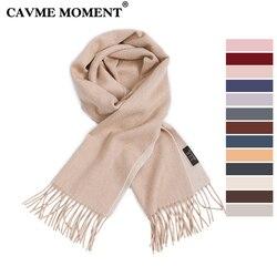 CAVME Cashmere Scarf Basic Long Scarves Solid Color for Women Classic Simple Men's Wraps Shawls 100% Cashmere 30*180cm 130g