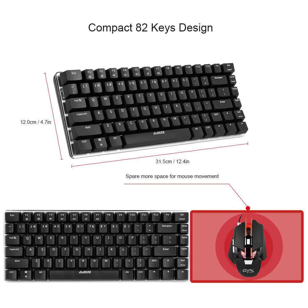 AJAZZ AK33 لوحة المفاتيح الميكانيكية RGB الألعاب لوحات المفاتيح 82 مفاتيح الأزرق/الأسود مفاتيح مكافحة الظلال ل PTUG LOL DOTA 2 csgo