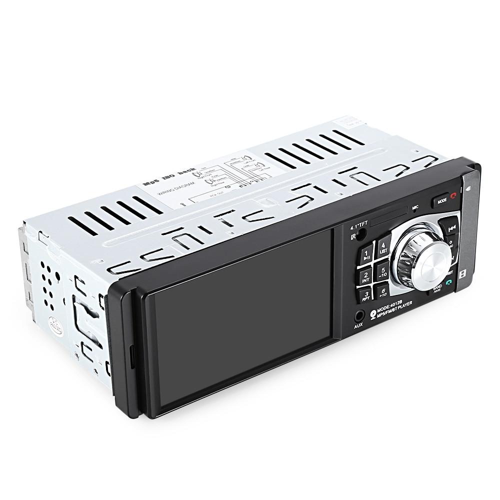 1 один дин радио авто аудио стерео FM с Bluetooth 2.0 поддержка заднего вида камера USB на руль дистанционное управление