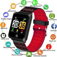 цена LIGE Smart bracelet Sport Watch Waterproof Smart Watch Blood Pressure Heart Rate Monitor Calorie Pedometer Information Reminder онлайн в 2017 году