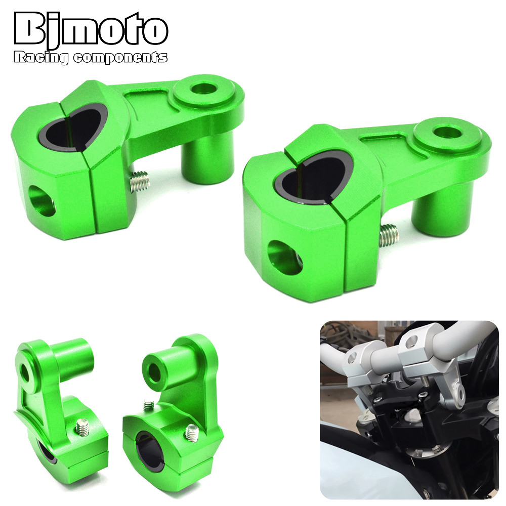 Bjmoto Motorcycle 7/8 22mm 28mm Handlebar Risers Bars Clamp Mount Riser for BMW Yamaha Honda Suzuki Kawasaki motocross ATV eboyu tm hubsan h501s x4 fpv racing quadcopter drone parts 3 x lipo battery 7 4v 2700mah 10c 1 x charging cable