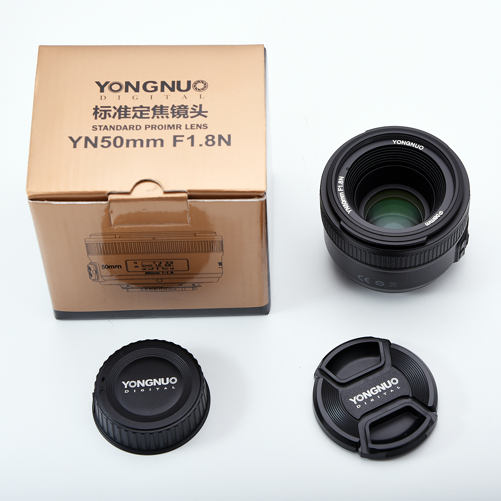 YONGNUO YN50MM F1.8 Large Aperture Auto Focus Lens for Nikon DSLR ,50mm f1.8 lens yongnuo yn50mm f1 8n large aperture auto focus af lens for nikon dslr camera used 50mm f1 8 lens gift for 58mm mcuv