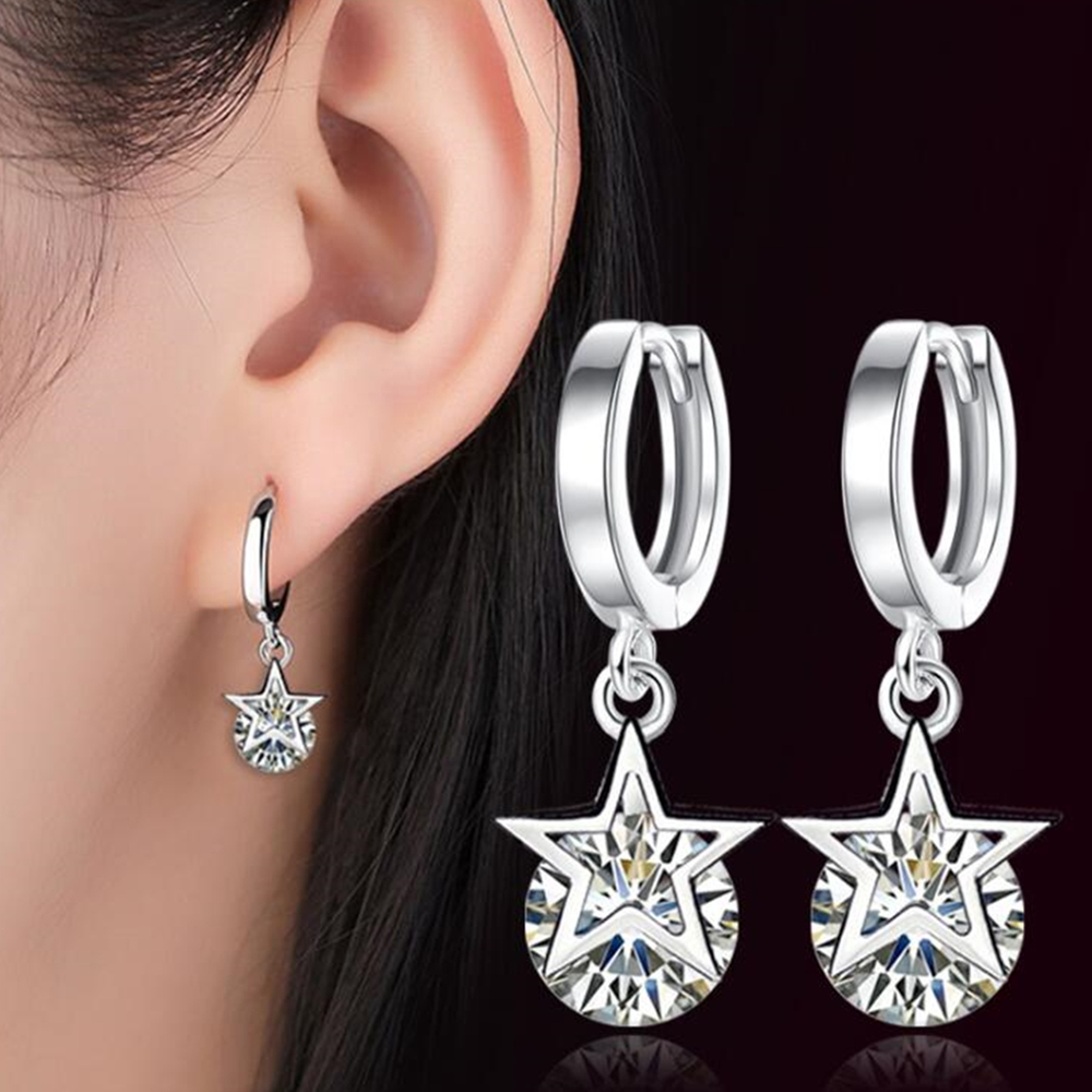 Aliexpress.com : Buy Luxury five pointed star silver Drop ...