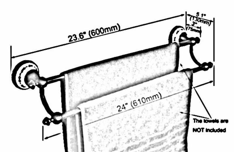 אמבטיה אבזר שחור שמן שפשף פליז קרמיקה פרח קיר רכוב אמבטיה כפולה מגבת בר מגבת מתלה מגבת מסילות aba752