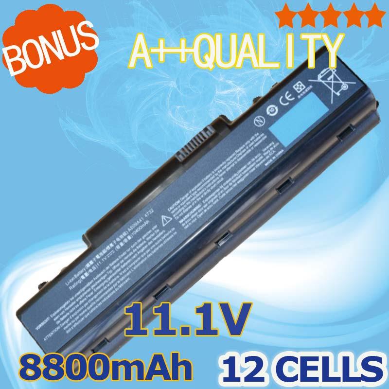8800mah 12 Cells Laptop Battery For Acer Aspire 4732z