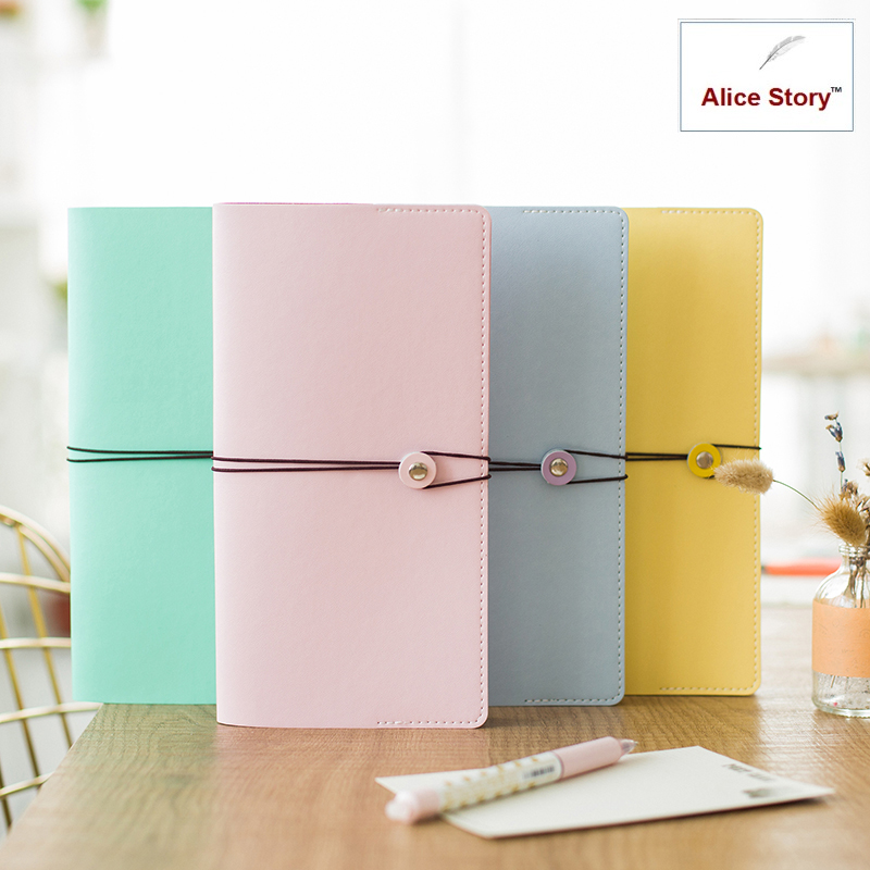 Cute notebook din piele faux faux Macaron 4 culori Diary Pentru a face lista Schedule agenda de planificare papetarie jurnal