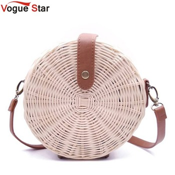 2020 Women Straw Bag Bohemian Bali Round Rattan Wicker Circle Beach Handbag Handmade Kintted Shoulder Bags bolso L1 - discount item  37% OFF Women's Handbags